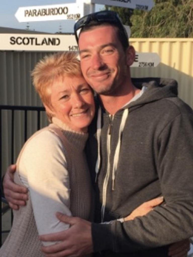 Afghan veteran Brock Hewitt went missing on January 7 and was found dead 3 weeks later on Australia Day by the river in Western Australia. Brock with his Mum Jan. Taken in 2017. Supplied by family