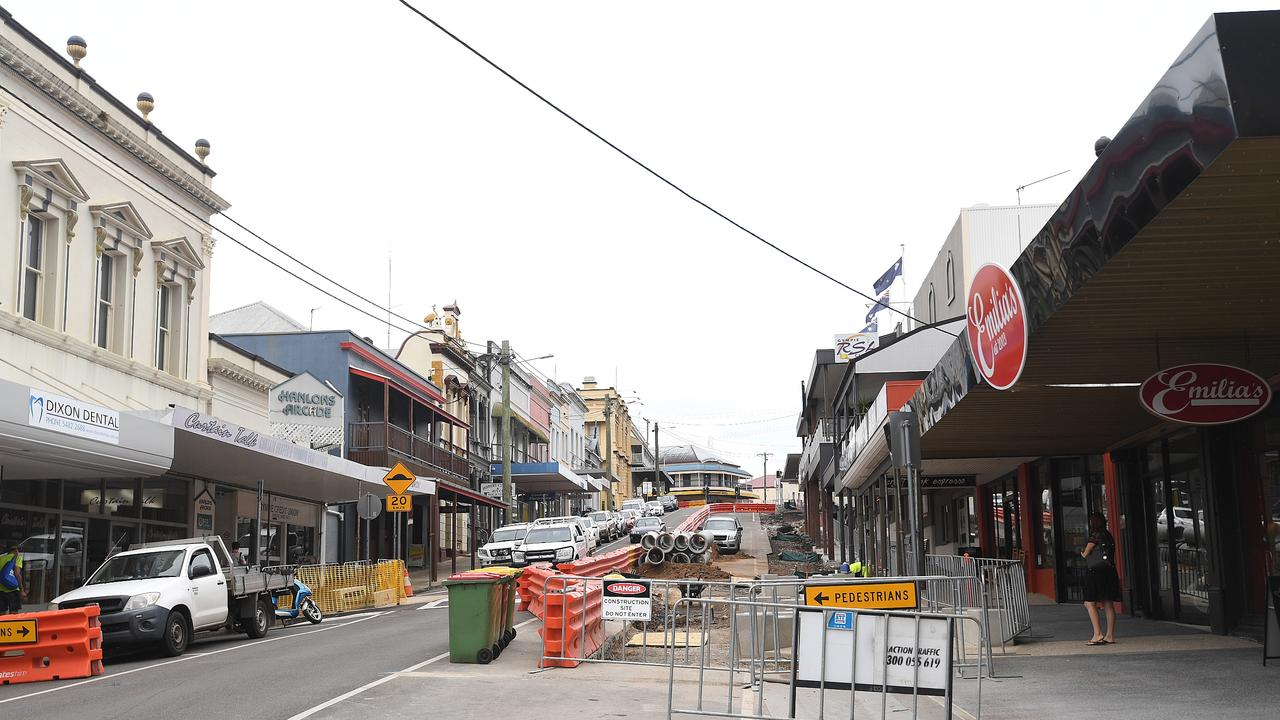 The Upper Mary St project has severely impacted customer numbers for local businesses.