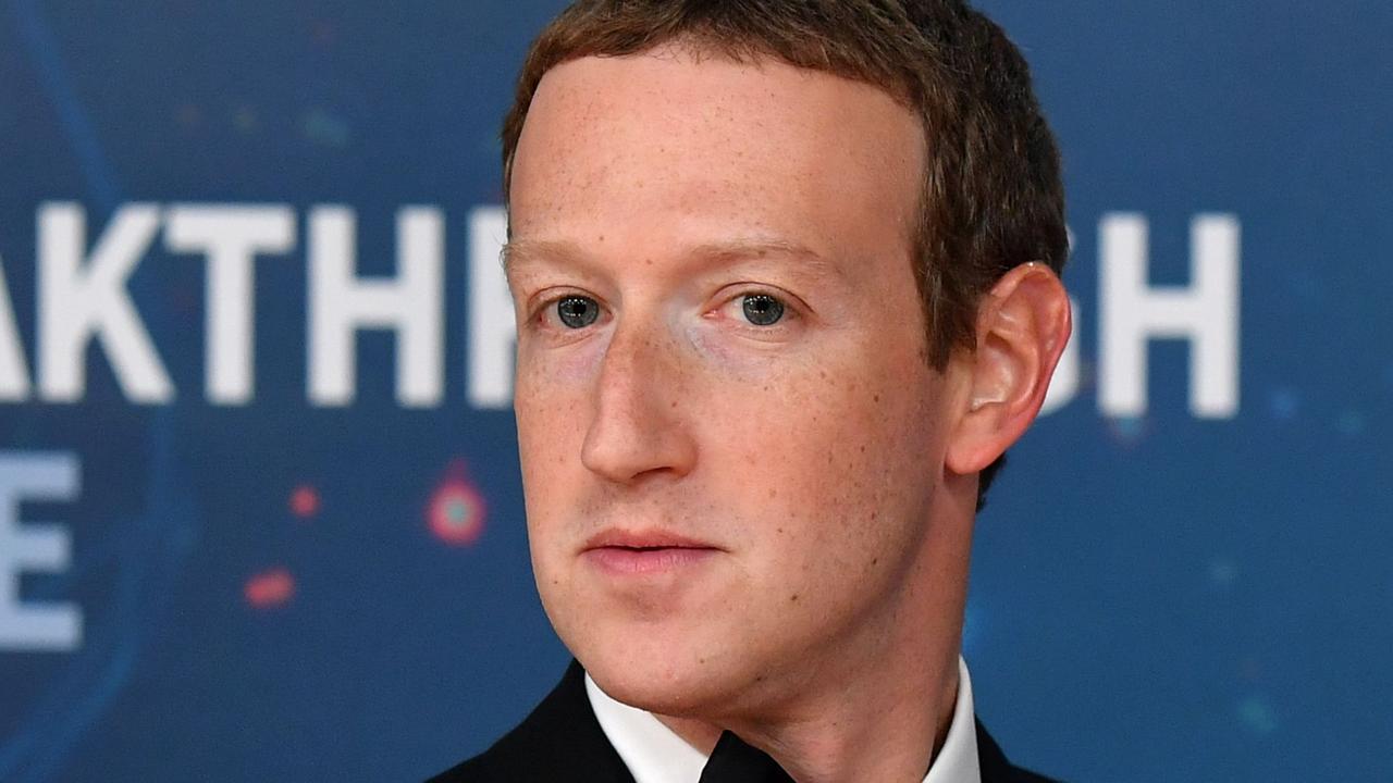 Facebook CEO Mark Zuckerberg. Picture: AFP