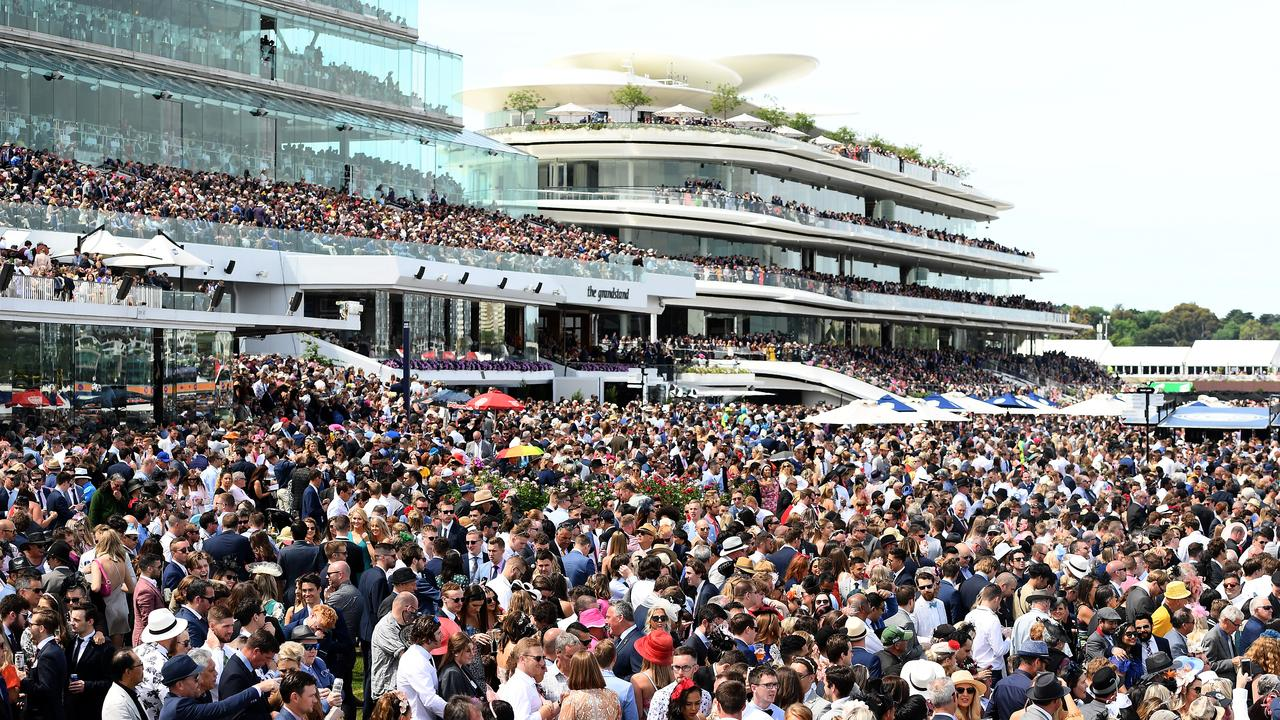 It was the lowest Melbourne Cup crowd since 1995. Picture: Quinn Rooney/Getty