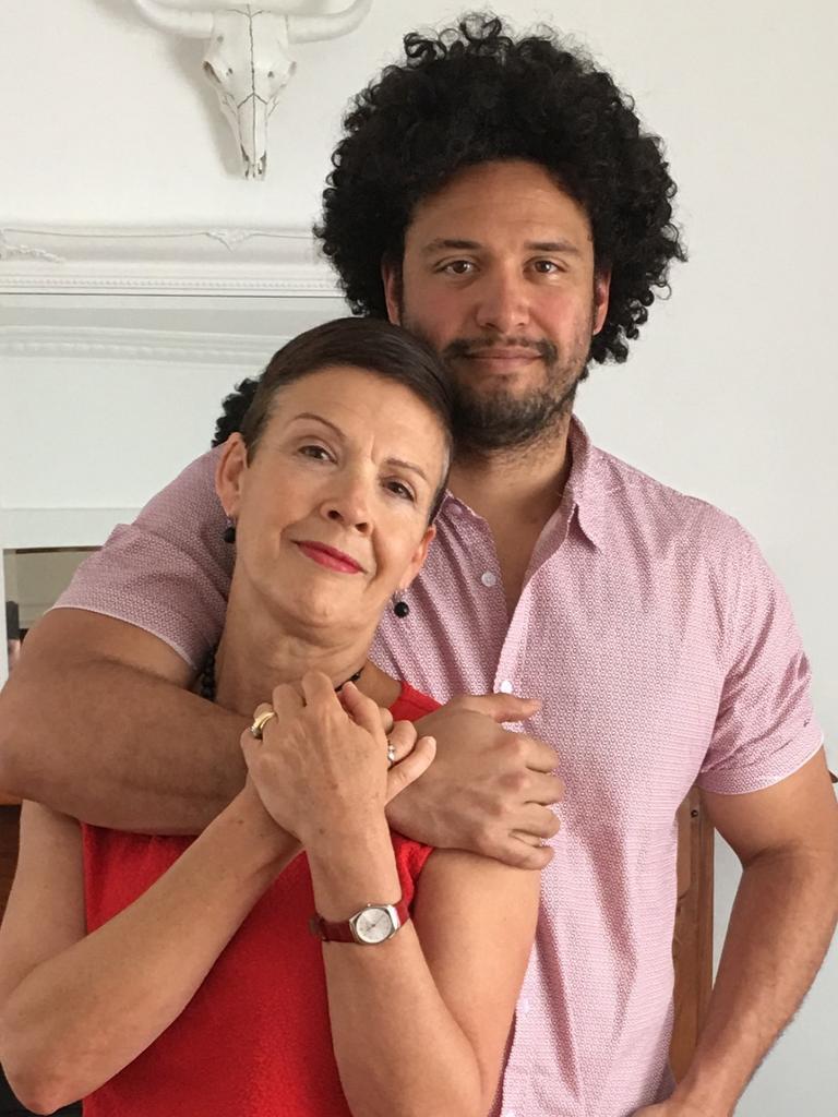 Karen Bird with her son Jesse.