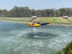 Water bombers fight Teewah bushfire