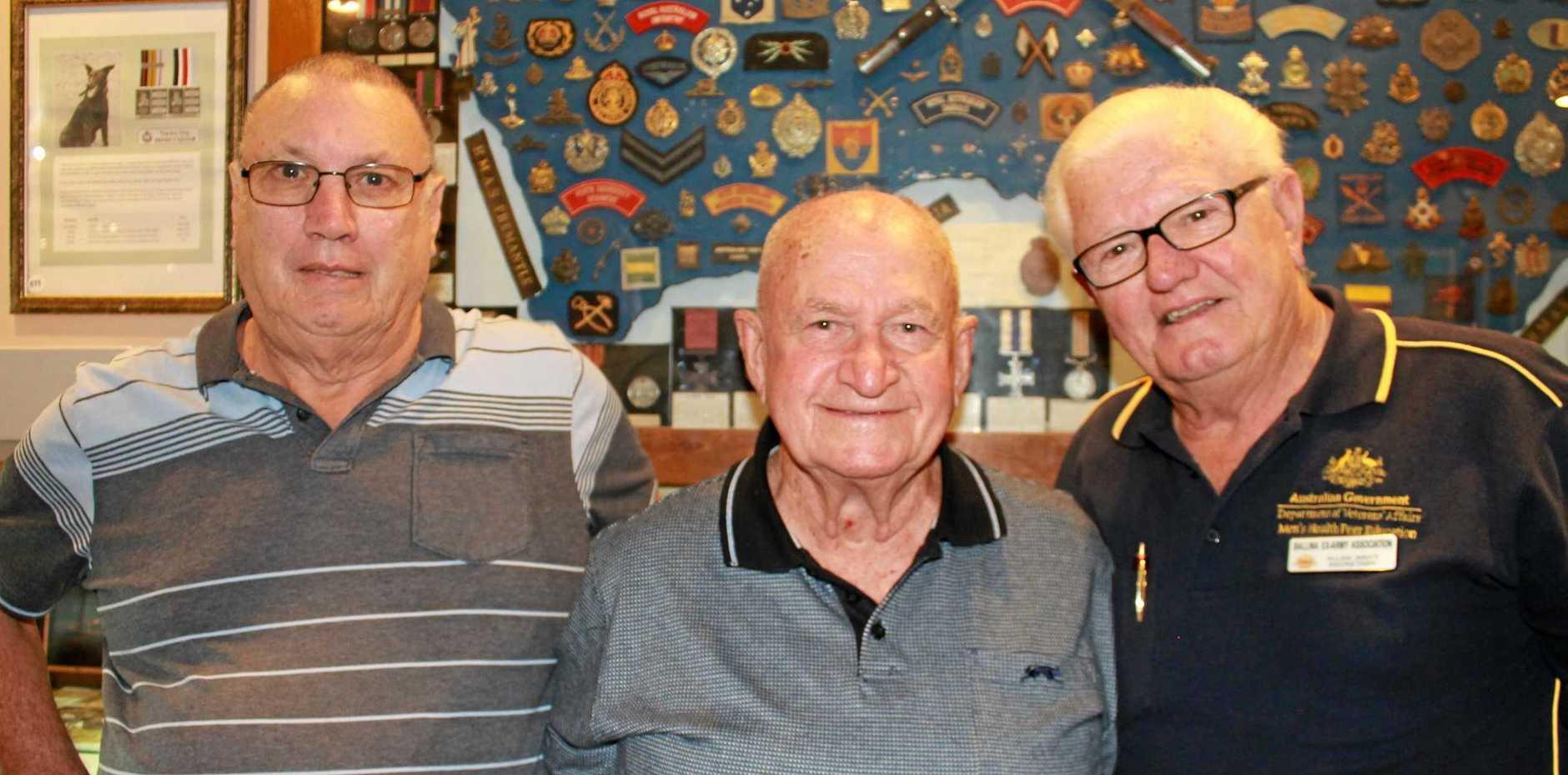 CURATORS: Allan Haynes, Bill Thompson and Allan Britt at the museum.