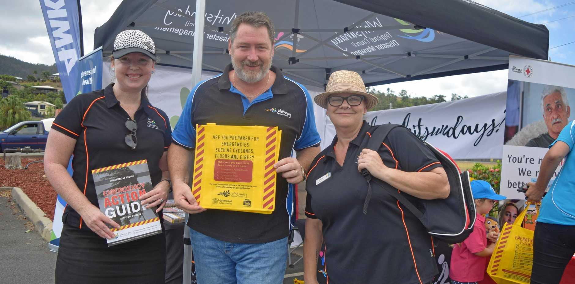 Sandra Black, Ron Petterson and Alicia Palmer at last year's Cyclone Saturday event.