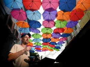 Where have the umbrellas gone from cafe laneway?