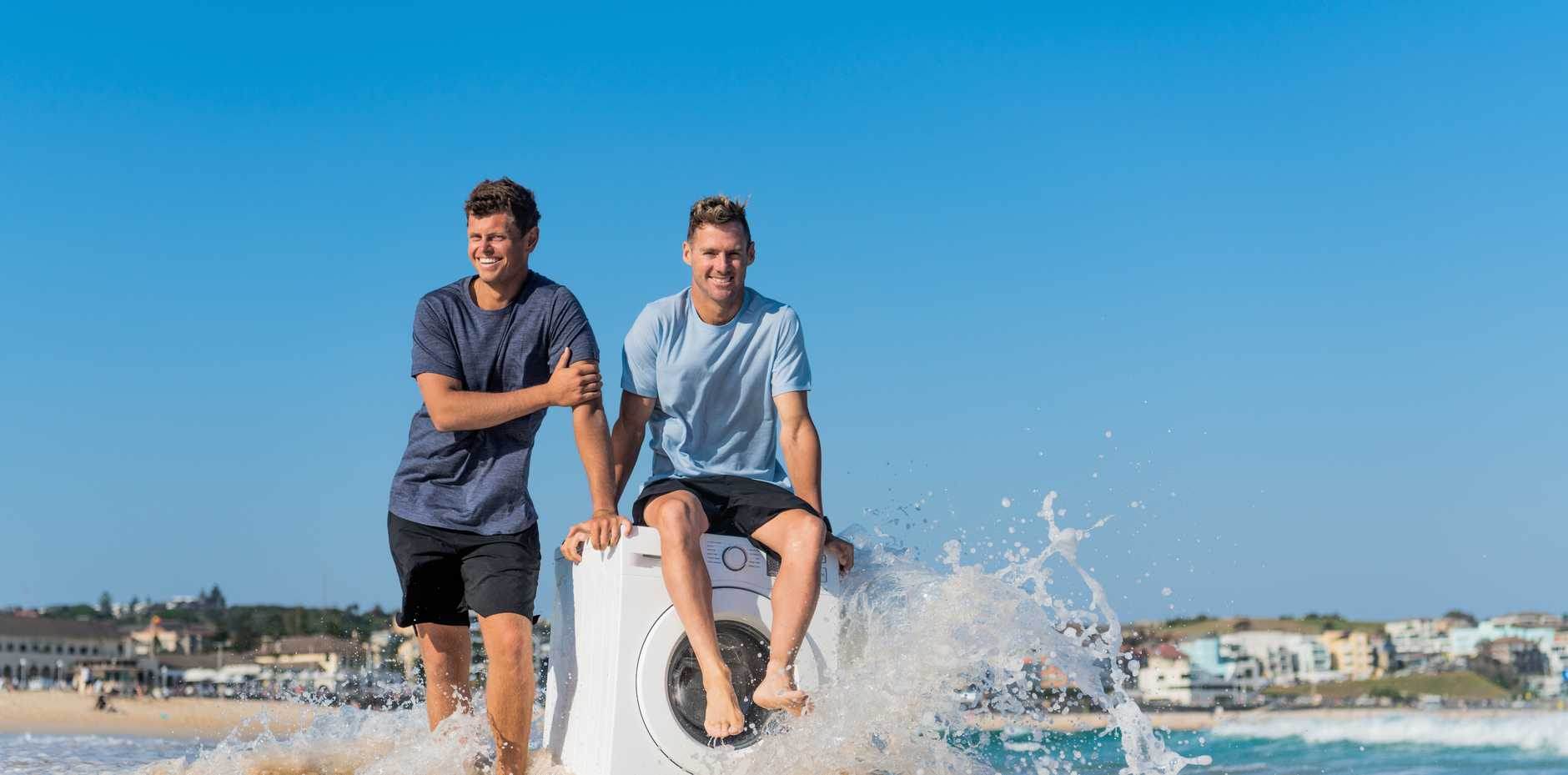 Bondi Lifeguards, Harrison Reid and Clint Kimmins are teaming up with scientists and fashion designers to tackle the vast, microscopic problem.