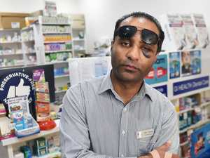 Dad jailed after breaking pharmacy owner's nose