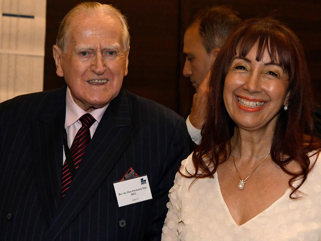 Fred Nile with wife Sivana Nero. Picture: AAP