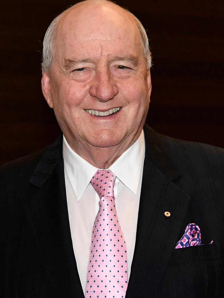 Alan Jones arrives for a tribute dinner for former prime minister Tony Abbott. Picture: AAP