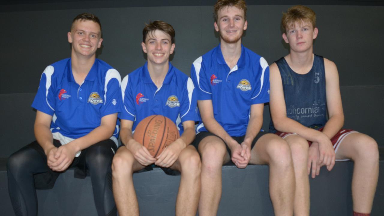 Ben Knight, Owen Gardiner, Seth Collins and Joseph McEldowney