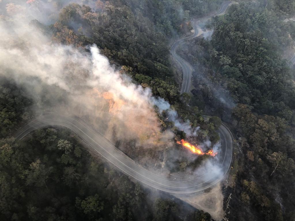 The Eungella range, the habitat of the Eungella honeyeater, was severely damaged during last year's bushfires.