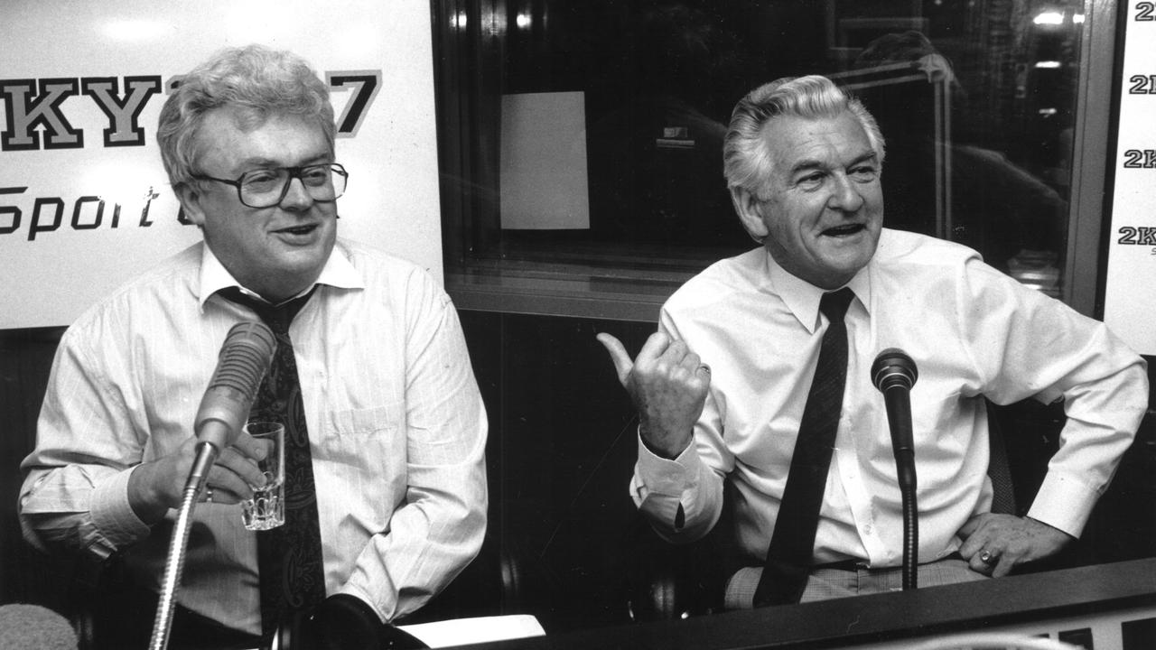 Graham Richardson with former Prime Minister Bob Hawke in 1991.