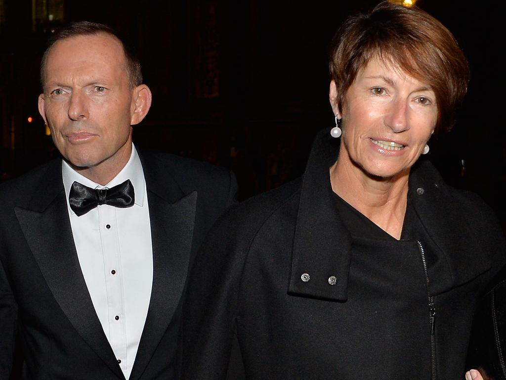 Tony Abbott's wife, Margie, has had a lumpectomy. Picture: David Dyson