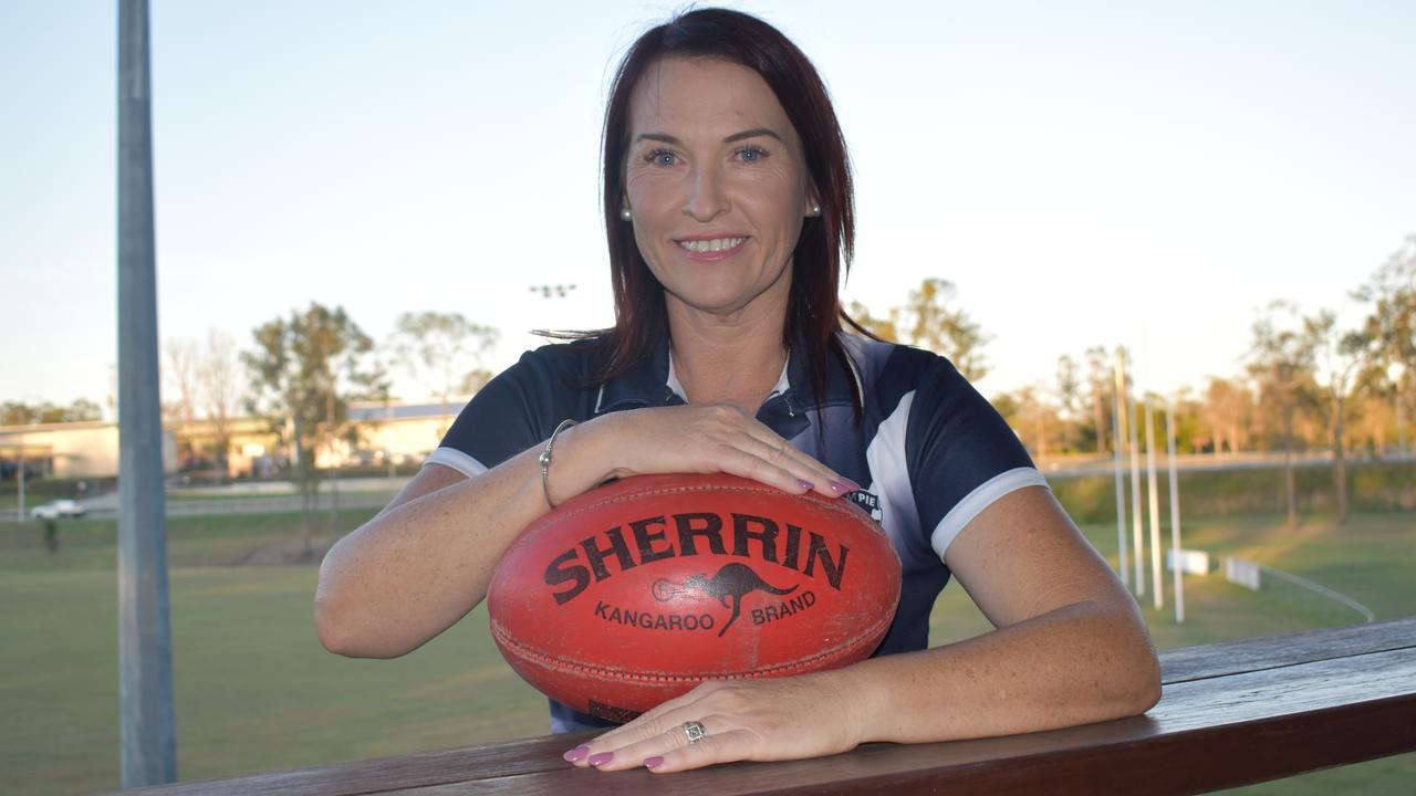 Gympie Cats Football Club new president Ann-Marie Warren.