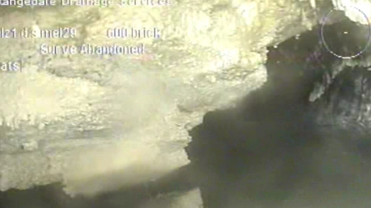 Supplied photos of a fatberg found under Flinders St Melbourne