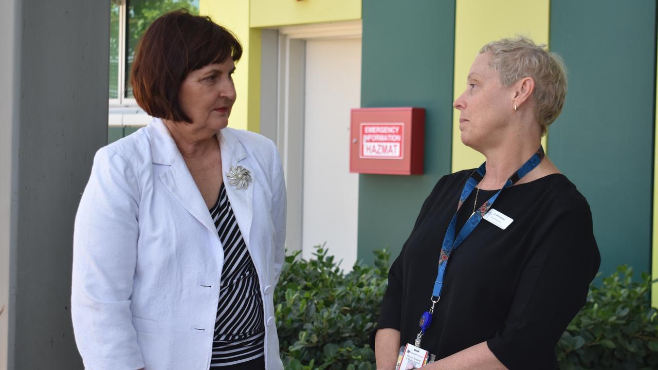 SARINA HOSPITAL: Mackay MP Julieanne Gilbert and Mackay Hospital and Health Services chief executive Jo Whitehead.