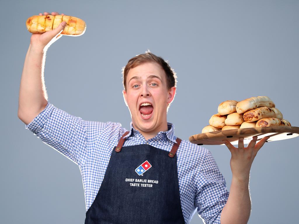 Zach Gracie eats lots of garlic bread every week. Picture: Peter Wallis