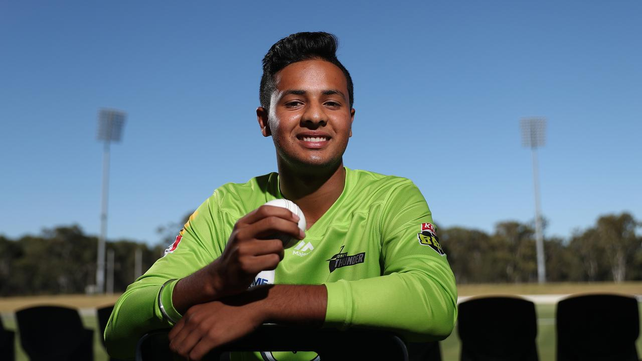 Young gun Tanveer Sangha is seen as a rising star of the Australian cricket scene. Picture: Brett Costello