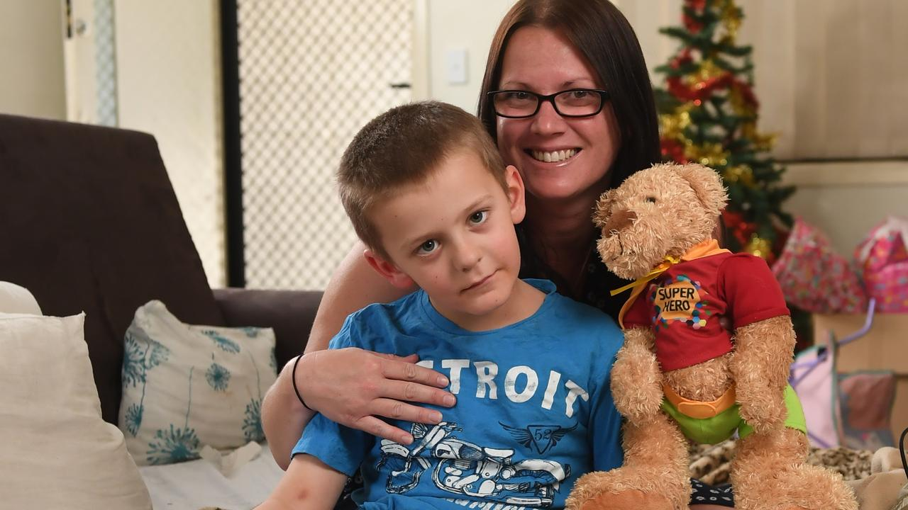 Redbank Plains resident Heath Chin, who has glioblastoma, with family friend Kalee Simpson. Picture: ROB WILLIAMS/Queensland Times
