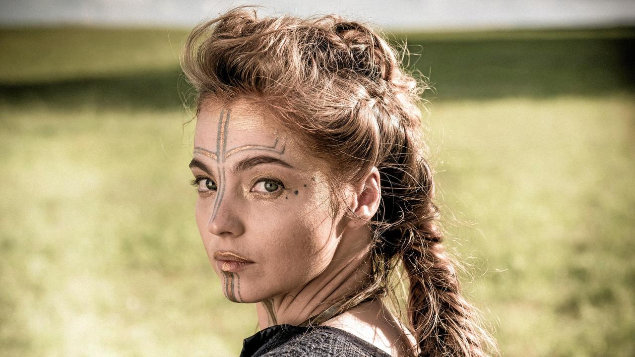 Liana Cornell in a scene from TV series Britannia. Picture: Foxtel