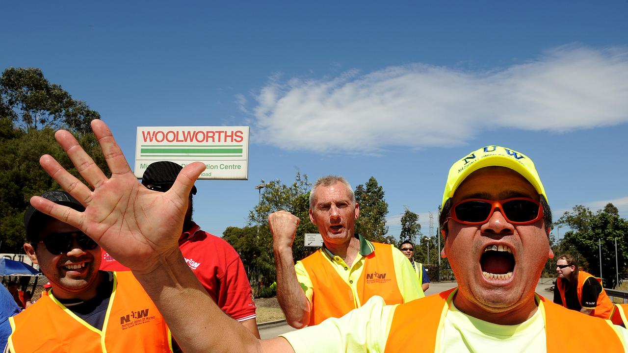 Protests outside Woolworth's Minchinbury Distribution Centre back in 2013.