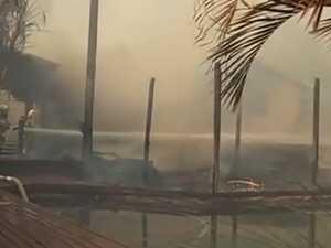 Noosa hinterland home burns as blaze rages towards Tewantin