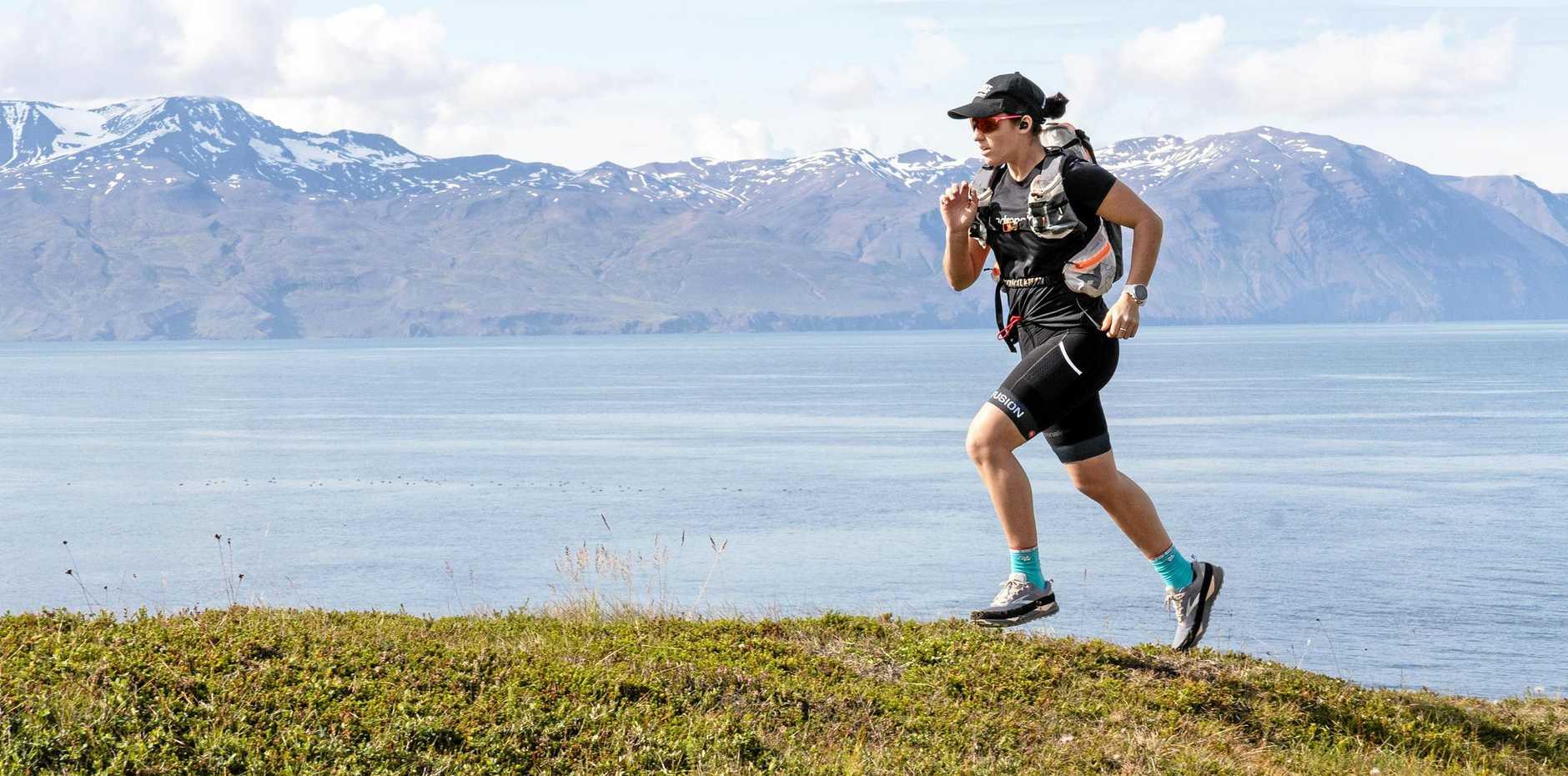 Ultra marathon runner Jacqui Bell during her journey in Iceland.