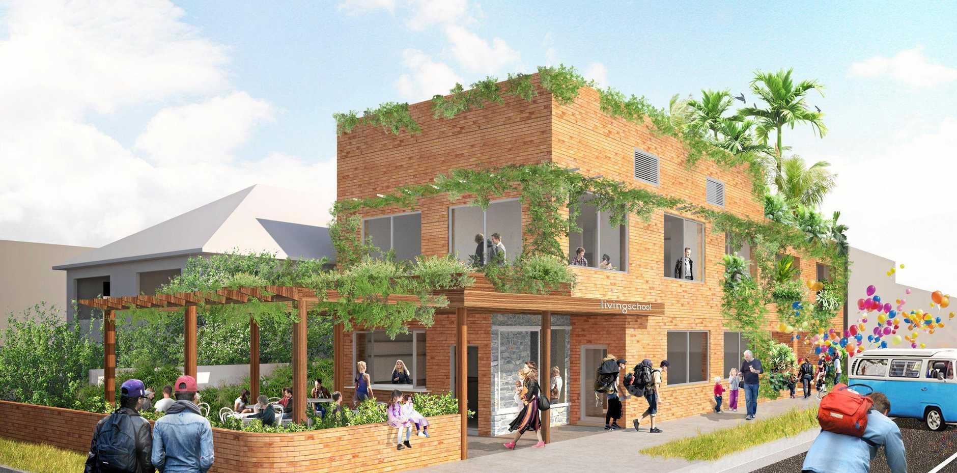 COMING SOON: An artists impression of the new progressive Living School, Northern Rivers, which is coming to Lismore.