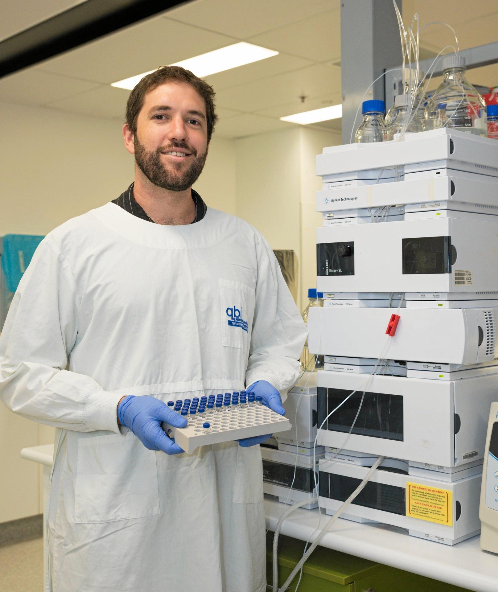Dr James Kesby is studying ways to help people with schizophrenia.