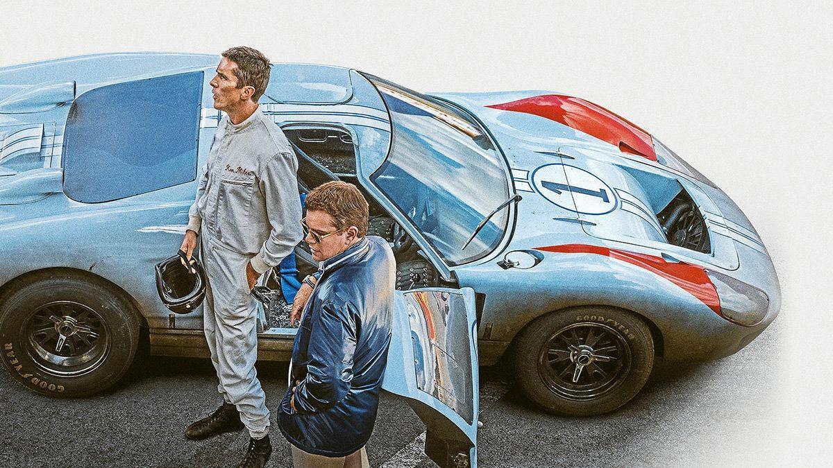STARS: Christian Bale and Matt Damon start in Ford v Ferrari, an action, biographic drama film by James Mangold.