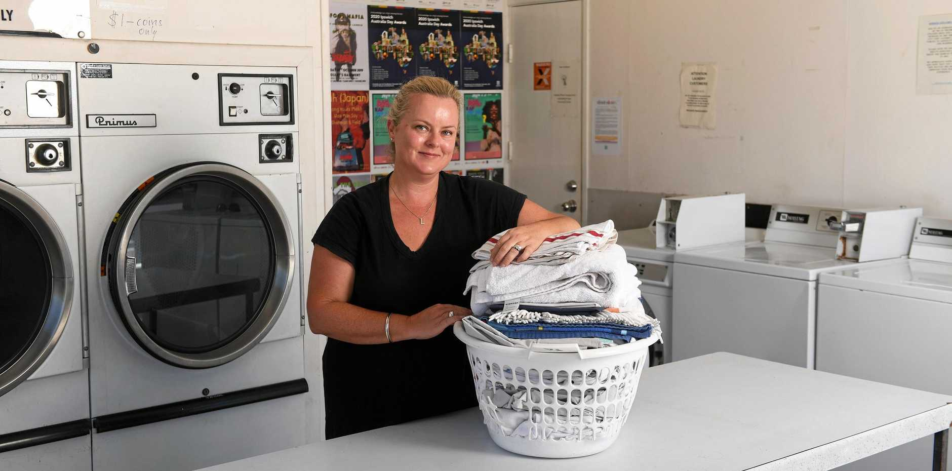 Ipswich Dry Cleaners owner Libby Rawlings.
