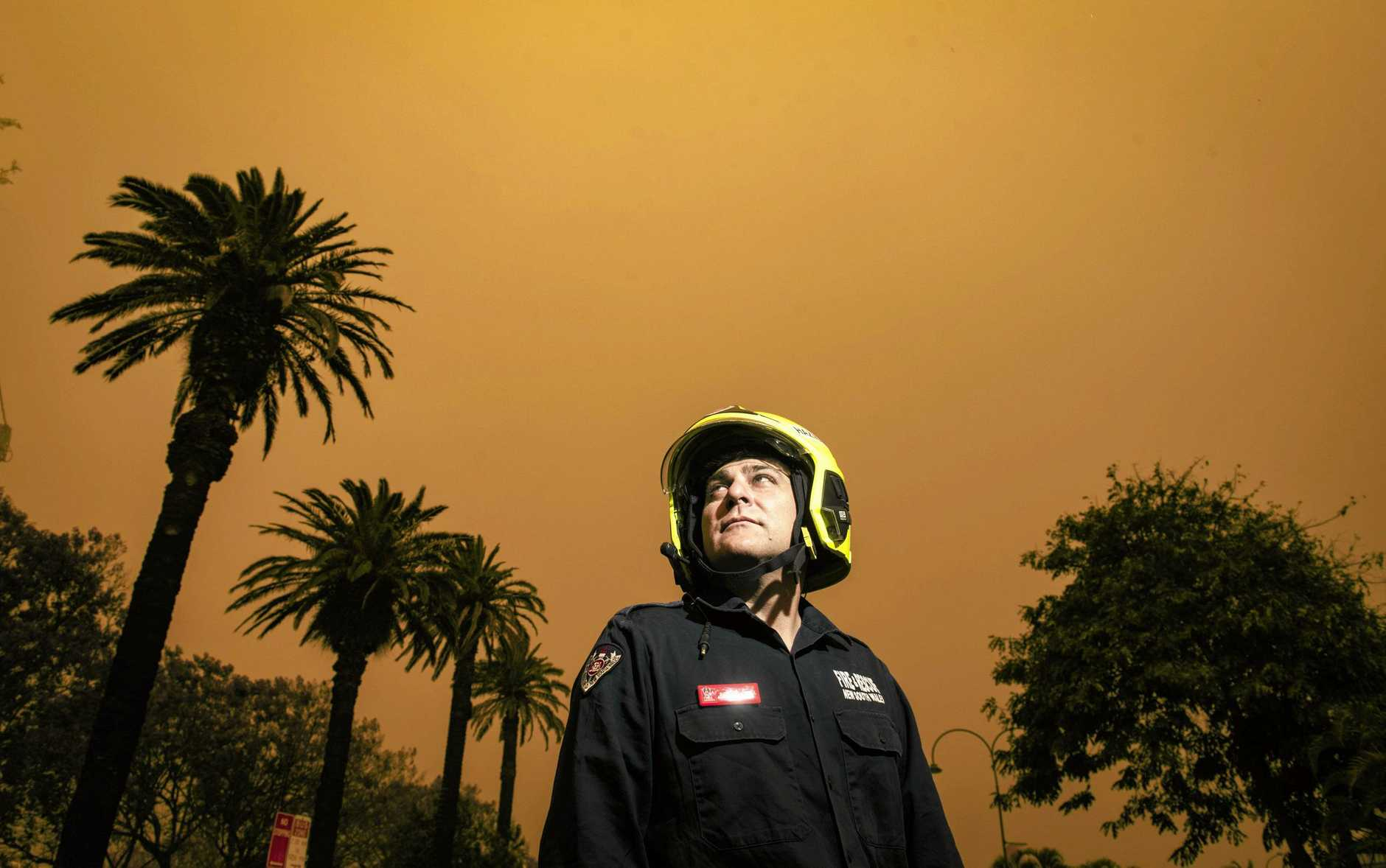 Scott Purnell, who returned from strike team work fighting fires in Port Macquarie