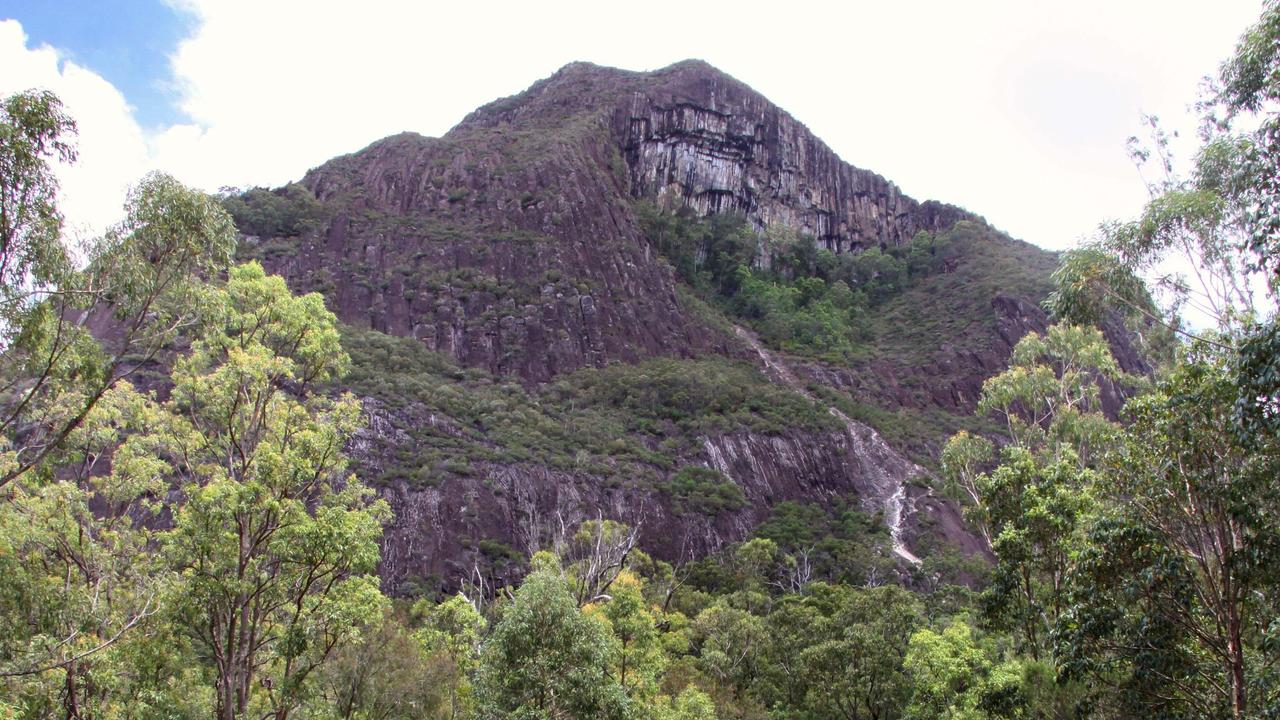 Two women were helped off Mt Beerwah last night after they became stranded. Photo: File