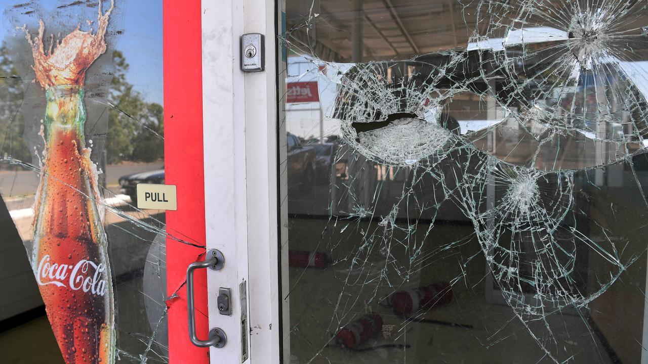 PURPOSELESS CRIME: Youths trashed the empty servo building on the corner of Heidke and Bolewski Street.