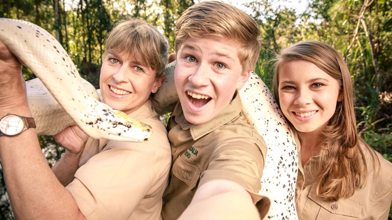 CRIKEY: Terri, Bindi and Robert Irwin at Australia Zoo. Photo: Contributed