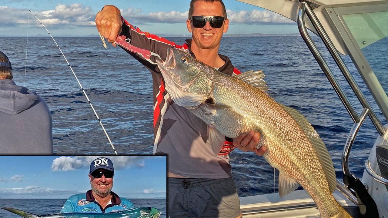 GOTCHA - Matthew Graham boated a 15kg jewfish and Bruce Sharland caught a mahi mahi at North Reef.