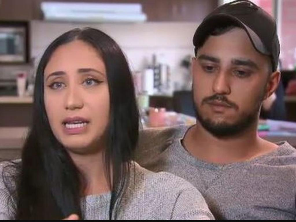 Newlyweds Sarah and Muhammed said they were 'attacked for looking ethnic'. Picture: 9 News