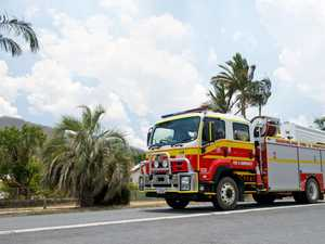 Firefighters at grass fire on Capricorn Coast