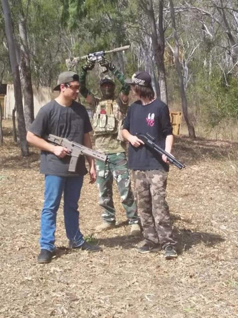 Kobi D'Rozario ACR blaster, Greg Fay custom blaster, Dallas Passey (Daniel's step son) with the shottie blaster.