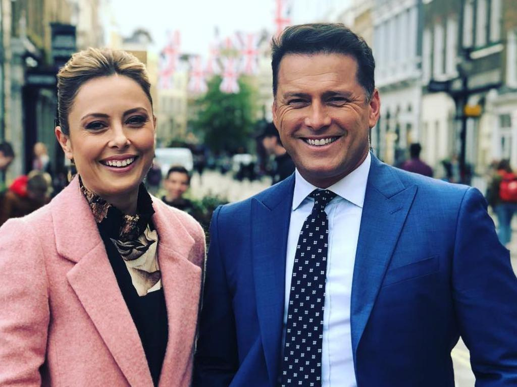 Allison Langdon and Karl Stefanovic covering the royal wedding between Harry and Meghan in 2018. Picture: Instagram