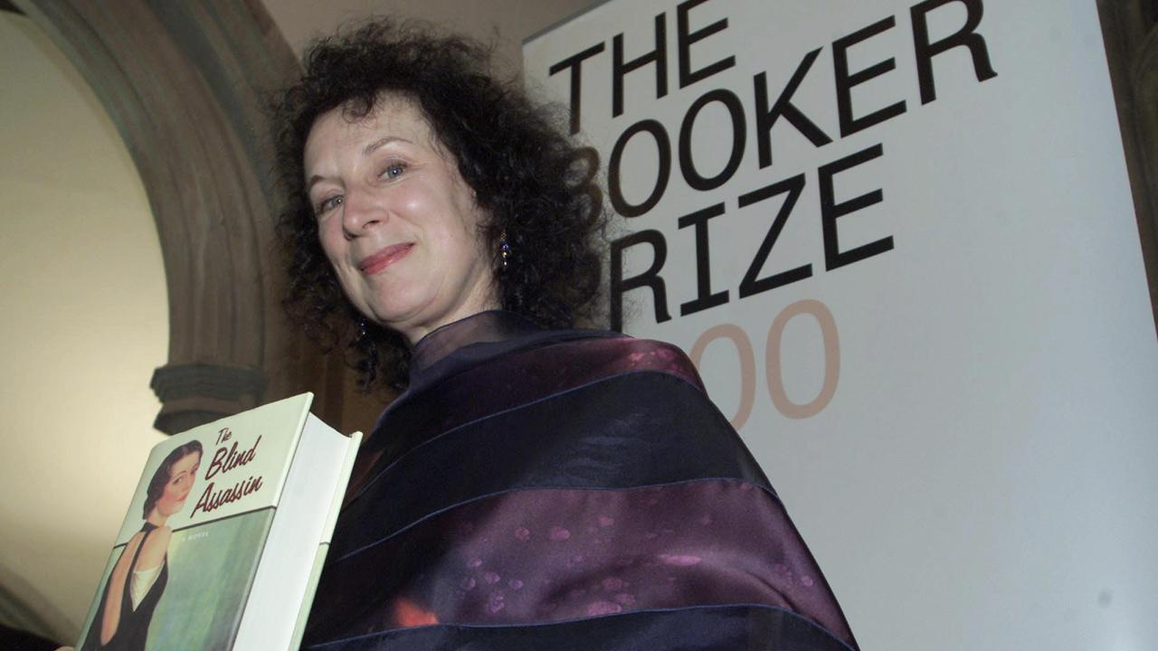 Margaret Atwood with her Booker Prize-winning novel 'The Blind Assassin'. Picture: AP/Alastair Grant