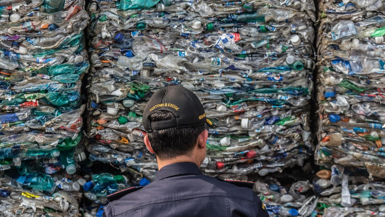 Australia will begin a phased ban of exporting waste internationally from July. Picture: Graham Crouch