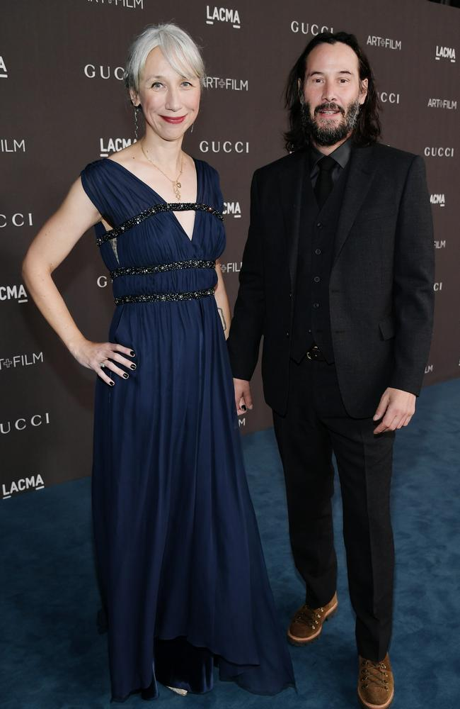 The couple make their red carpet debut. Picture: Neilson Barnard/Getty Images for LACMA