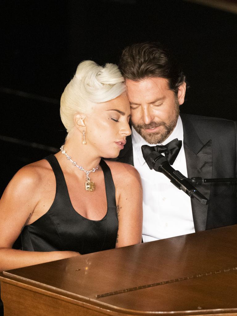 Lady Gaga and Bradley Cooper's duet raised plenty of eyebrows. Picture: Ed Herrera via Getty Images