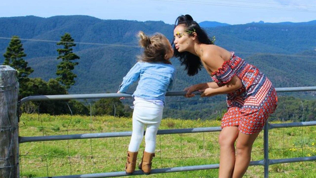 Tara Brown with her daughter Aria.