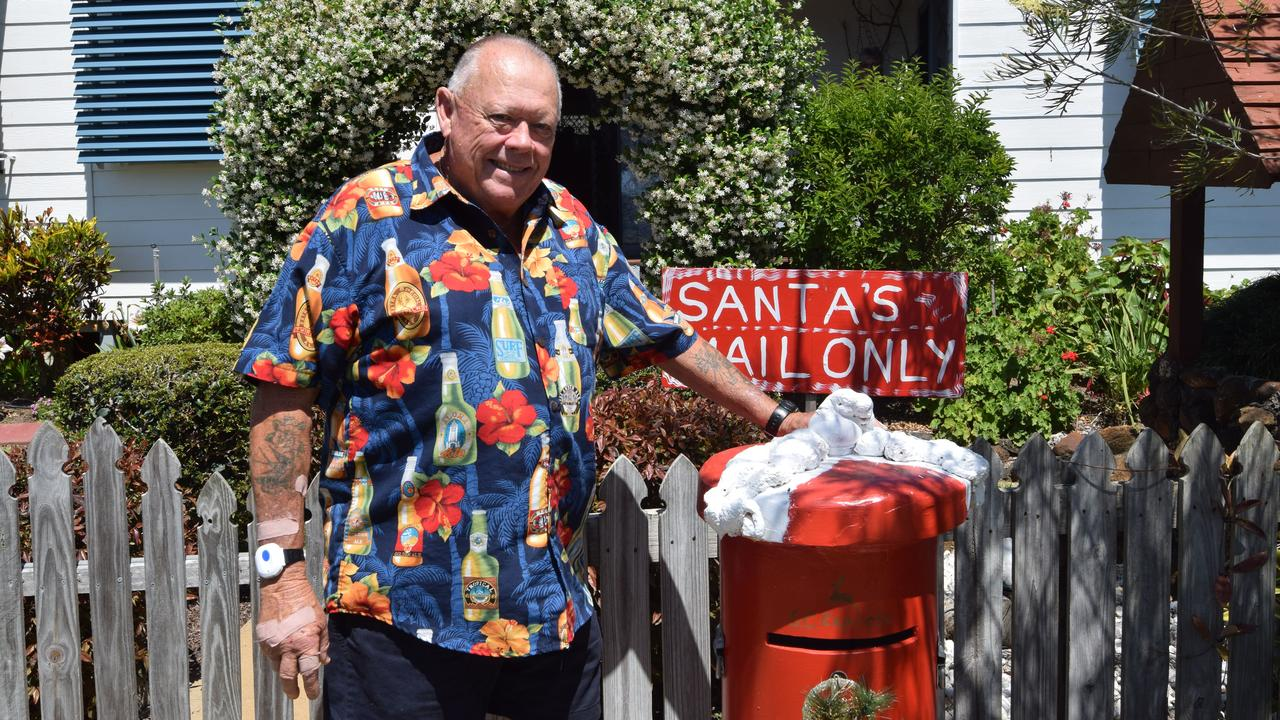 CHRISTMAS SPIRIT: Jerry Fossey is Santa's helper again this year with his handmade Santa letterbox