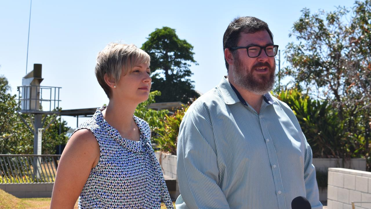 INSURANCE CRISIS: LNP candidate for Whitsunday Amanda Camm and Dawson MP George Christensen.