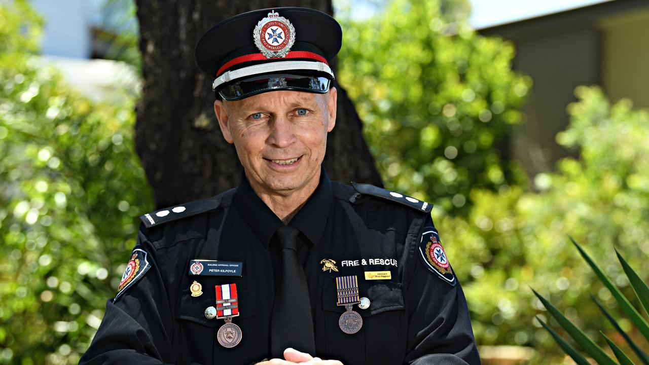 Peter Kilfoyle has retired after 37 years of making a difference in Queensland Fire and Emergency Services. Photo: Warren Lynam