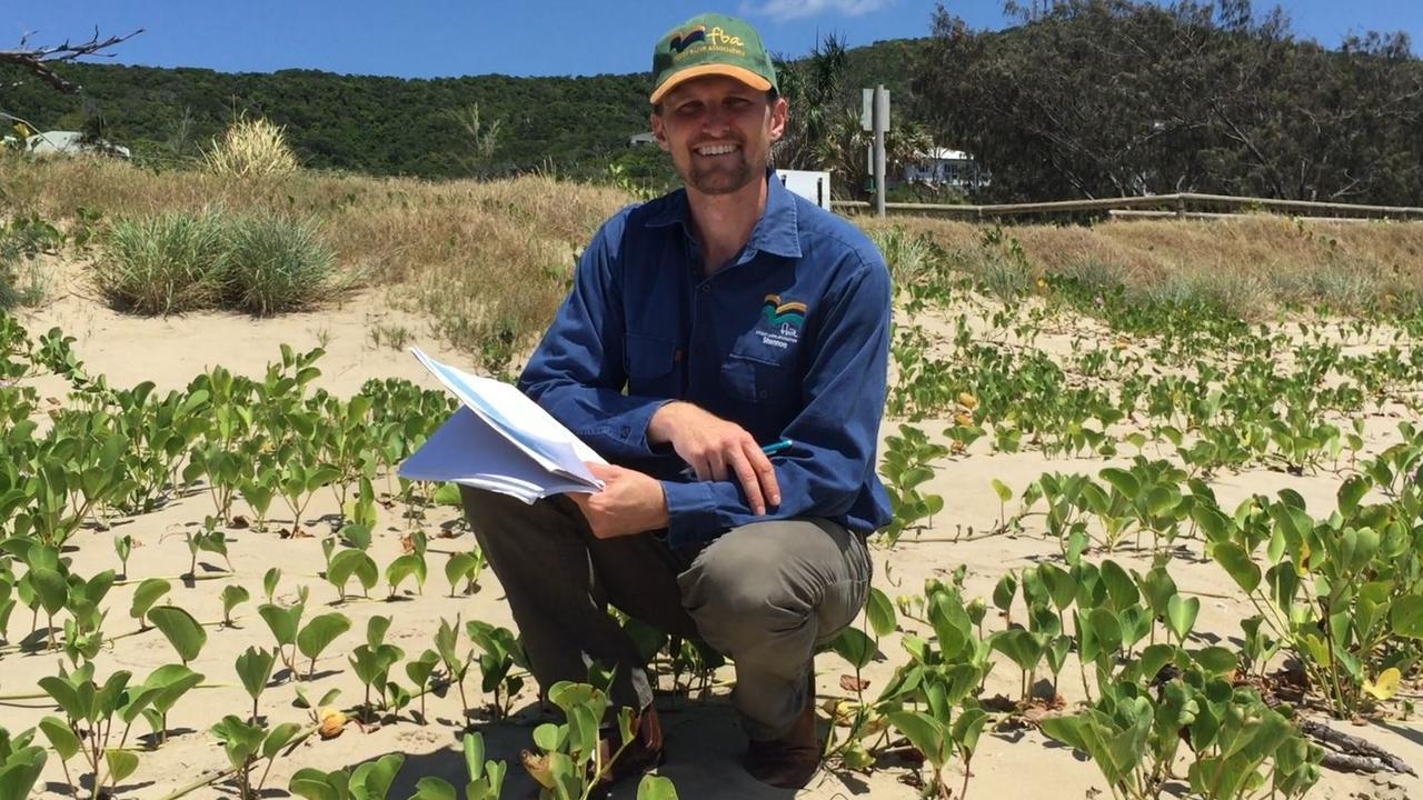 TURTLE TEAMSTER: Shannon Van Nunen of the Fitzroy Basin Association investigates turtle nesting sites