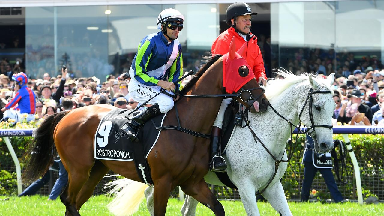 Jockey Dwayne Dunn eased up when he realised something was wrong with Rostropovich.